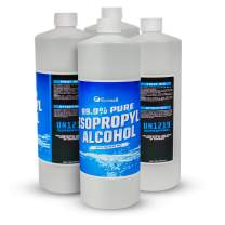 Isopropyl Alcohol 99.9% (IPA) - Fastest Shipping - 128 Fluid Ounces - 4 Bottles - 32oz per Bottle - Concentrated Rubbing Alcohol - Multiple Uses - Ecoxall Chemicals