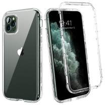 """BENTOBEN iPhone 11 Pro Case, Crystal Clear Transparent 3 in 1 Triple Layer Heavy Duty Shockproof Rugged Hybrid Slim Full Body Protective Phone Cases for iPhone 11 Pro 5.8""""-Clear"""