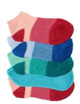 BambooMN Women's Super Aloe Infused Fuzzy Nylon Socks