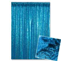 Kate 4x7ft/1.25m(W) x2.2m(H) Blue Sequin Fabric Backdrop Party Decoration Curtain Photography Backgrounds