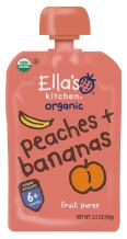 Ella's Kitchen Organic 6+ Months Baby Food, Peaches and Bananas, 3.5 oz. Pouch (Pack of 6)
