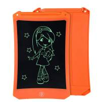 8.5 Inch Reusable LCD Writing Tablet Ewriter, Doodle Drawing Pad Game Playing Board Toy Gift for Toddlers & Kids, Teacher Planner Bulletin Notepad Board with Stylus - Mono Black & Orange