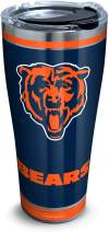 Tervis 1321502 NFL Chicago Bears - Touchdown Stainless Steel Insulated Tumbler with Clear and Black Hammer Lid, 30 oz, Silver
