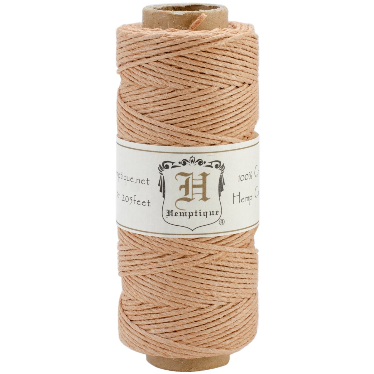 Hemptique 100% Hemp Cord Spool - 62.5 Meter Hemp String - Made with Love - No. 20 ~ 1mm Cord Thread for Jewelry Making, Macrame, Scrapbooking, DIY, & More - Cappuccino Candy