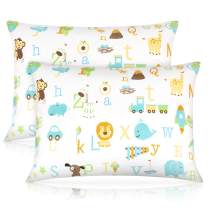 Toddler Pillow,13 x 18 Inch Kids Pillows for Sleeping, Machine Washable Small Infant Baby Pillow for Travel, Bed Set, with Soft Pillowcase
