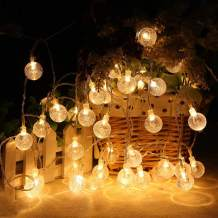 MOICO Globe String Lights for Bedroom, 43ft 100 LED 8 Modes Plug in Decorative Lights, Waterproof Indoor Outdoor String Lights for Patio, Garden, Christmas, Wedding, Party, Connectable, Warm White