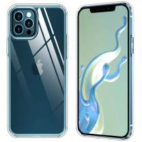 SPIDERCASE for iPhone 12 Pro Max Case, Clear Case Screen and Camera Protection, Scratch-Resistant Anti-Yellow Slim Case for iPhone 12 Pro Max 6.7 inch 2020 Released, Clear