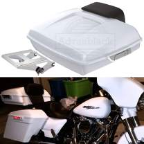 Moto Onfire Crushed Ice Pearl Razor Tour Pack Detachable Tour Pak Mount Bracket Rack Fit For Harley Touring Road Glide Street Glide Road King 2014 2015 2016 2017 2018 2019 2020