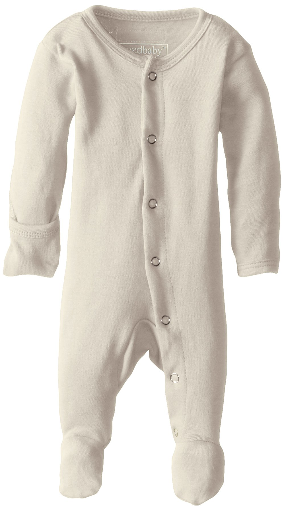 L'ovedbaby Unisex-Baby Organic Cotton Footed Overall, Beige, 0/3 Months