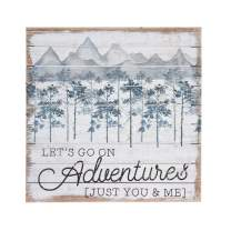 """Simply Said, INC Perfect Pallets 14"""" Wood Sign - Let's Go On Adventures, Just You & Me"""