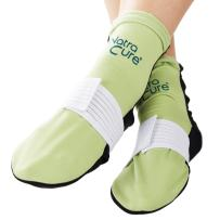NatraCure Cold Therapy Socks (w/Compression Strap) - Reusable Ice Pack Arch Support Slippers, Plantar Fasciitis Relief - (Aid for Broken Foot, Heels, Pain, Swelling) - (Size: Small/Medium)
