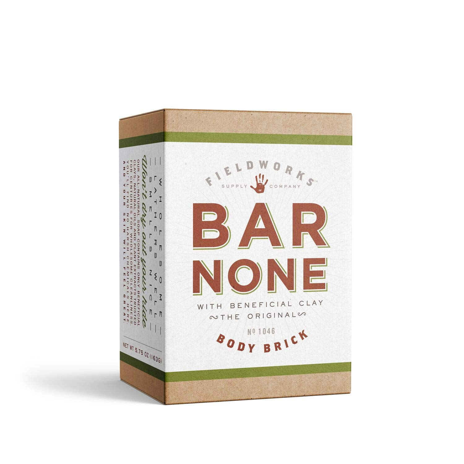 Organic All Natural Body Wash Soap.Aloe, Shea Butter, Bentonite and Essential Oils. Concentrated-Long Lasting, Eco-Friendly. (1 Pack - Bar None)
