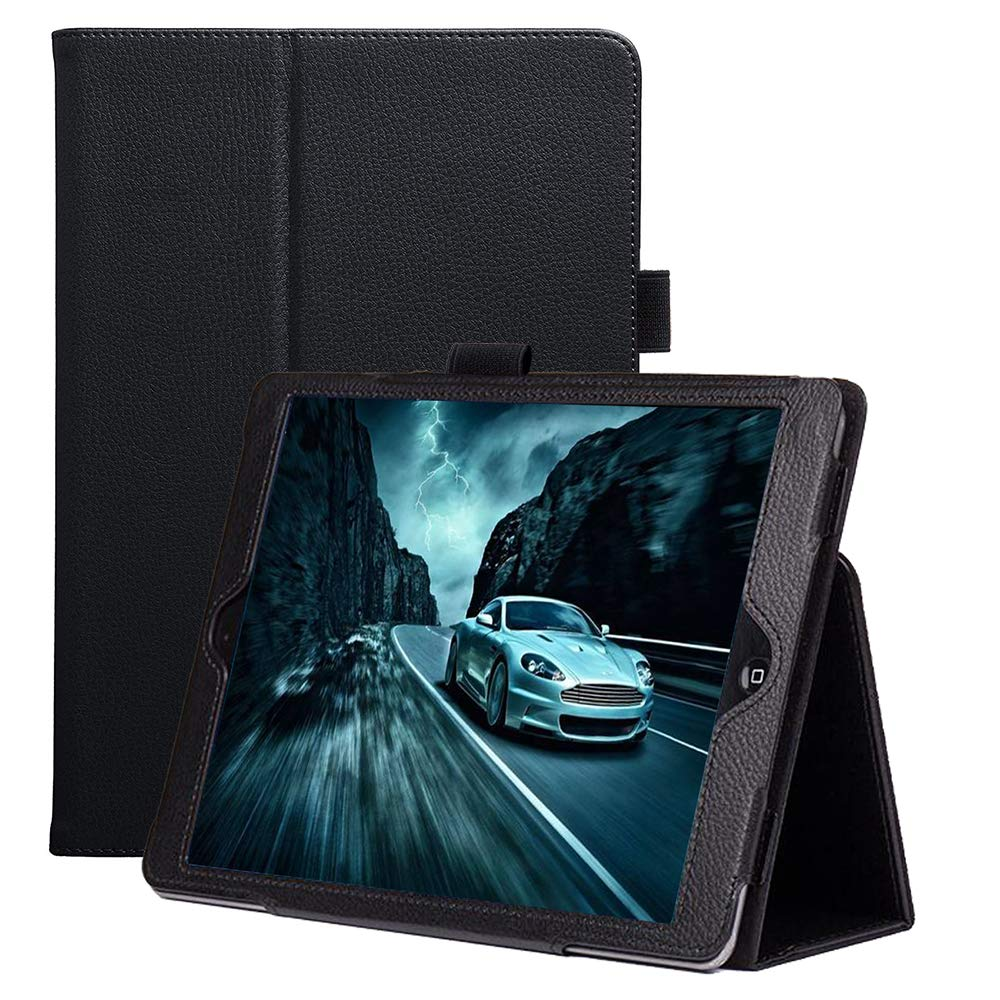 New iPad 10.2 2019 Case, FANSONG iPad Flip Leather Protective Cases with [Pen Holder] Stand [Auto Sleep/Wake up] Smart Cover for iPad 7th Generation 2019 Case, Black