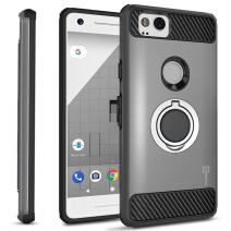 CoverON Magnetic Ring Holder RingCase Series for Google Pixel 2 Case, Gray