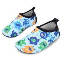 JIASUQI Kids Boys Girls Fashion Walking Water Shoes for Beach,Multi Dinosaur US 12.5-13 M Little Kid