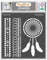 CrafTreat African Tribal Stencils for Painting on Wood, Wall, Tile, Canvas, Paper, Fabric and Floor - Dream Catcher - 6x6 Inches - Reusable DIY Art and Craft Stencils - Dreamcatcher Stencil