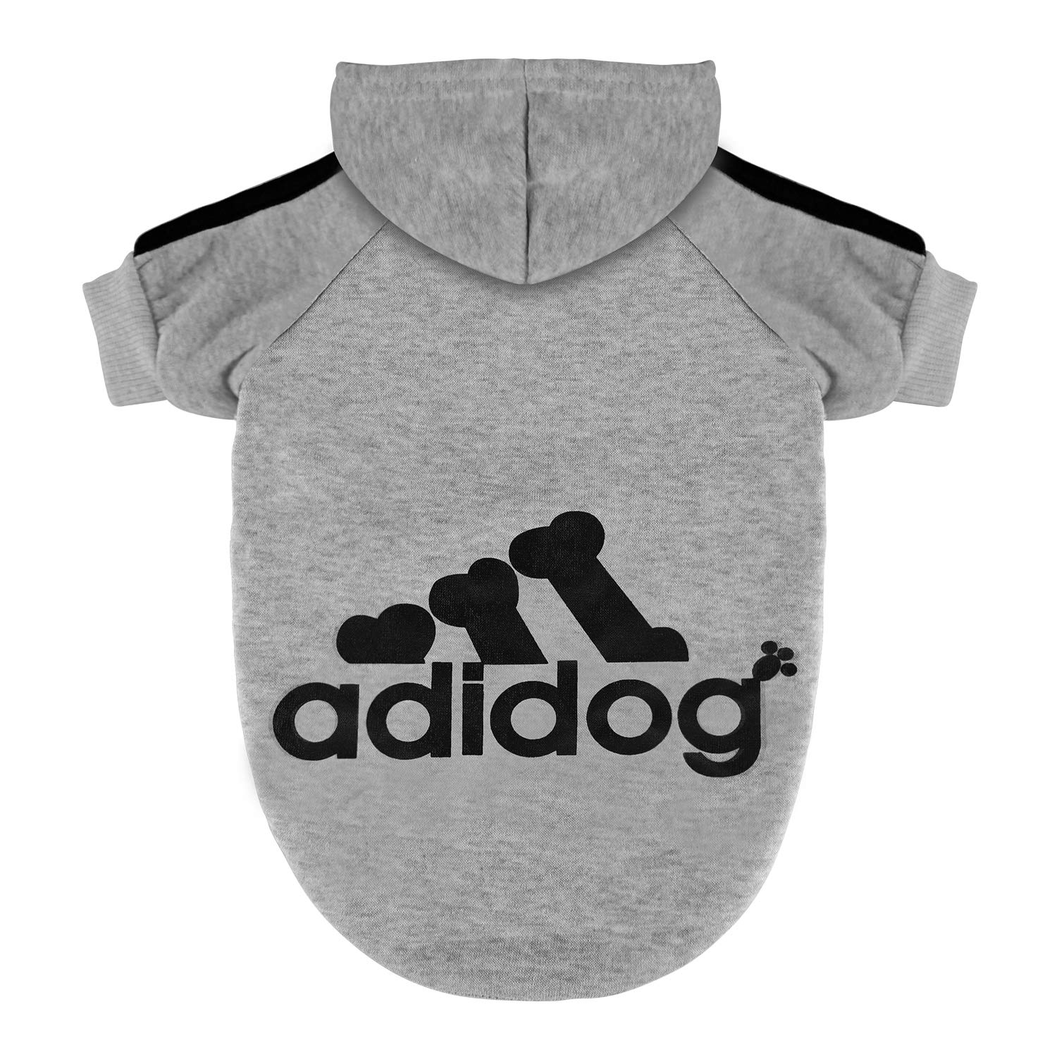 Scheppend Pet Clothes for Dogs Cats Adidog Hoodie Puppy Kitty Winter Warm Coat Outfit Soft Cozy Sweater Dog Windproof Tracksuit Sweatshirts