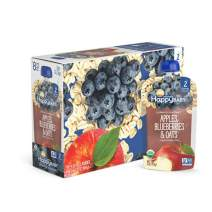 Happy Baby Organic Clearly Crafted Stage 2 Baby Food, Apples, Blueberries and Oats, 4 Ounce (8 Count)