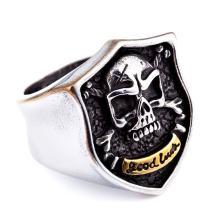 Genuine Stainless Steel Ring Jewelry for Men Fashion Punk Biker Skull Rings