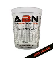ABN Clear Plastic Mixing Cup 100-Pack 32oz Ounce / 946mL Milliliter Container for Paint, Activators, and Thinner