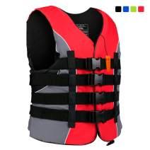 XGEAR Adult USCG Life Vest Water Sports Life Jacket, 4 Colors