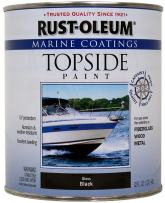 Rust-Oleum, Black, 207006 Marine Topside Paint, 1-Quart