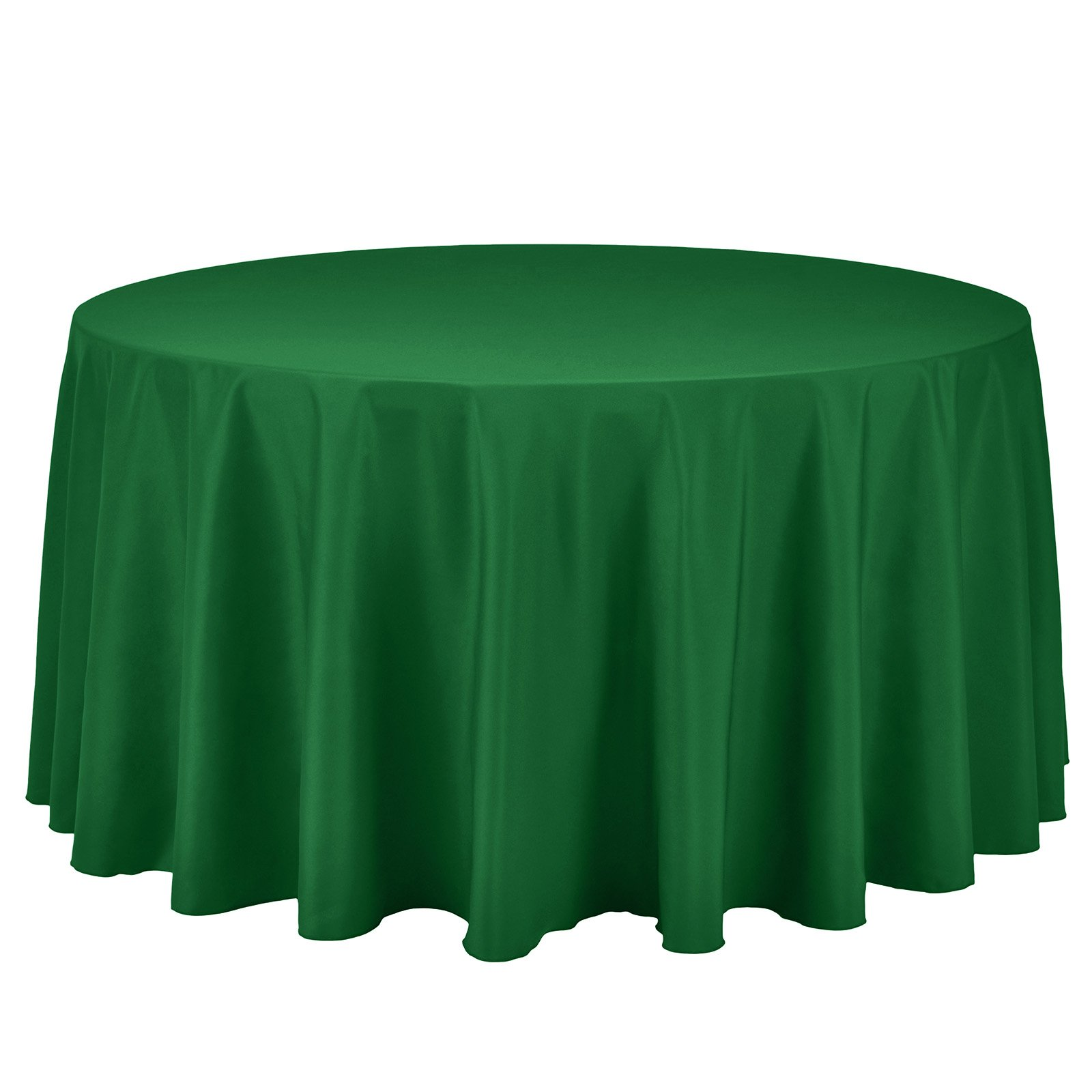 Remedios Round Tablecloth Solid Color Polyester Table Cloth for Bridal Shower Wedding Table – Wrinkle Free Dinner Tablecloth for Restaurant Party Banquet (Green, 108 inch)