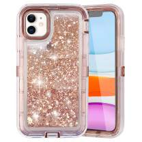 COOYA iPhone 11 Case, iPhone 11 Glitter Case for Girls Women Full Body Protection Heavy Duty Shockproof Bumper Dual Layer Hard PC and TPU Back Cover Bling Sparkle Case for iPhone 11 6.1 Inch Rosegold