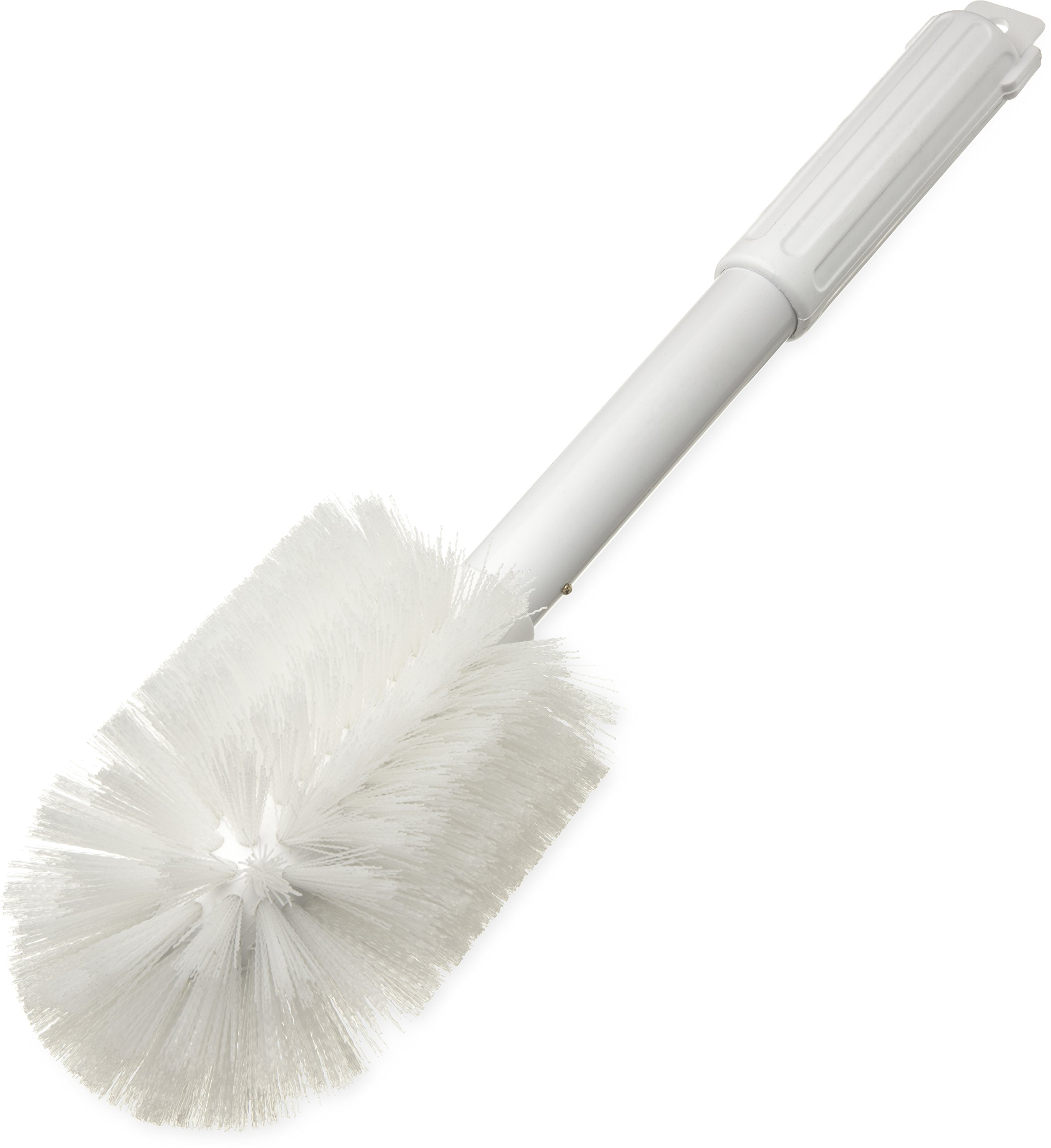 "Carlisle 4000502 Multi-Purpose Round Valve Brush, 4"" Polyester Bristles, 16"" Length, White"