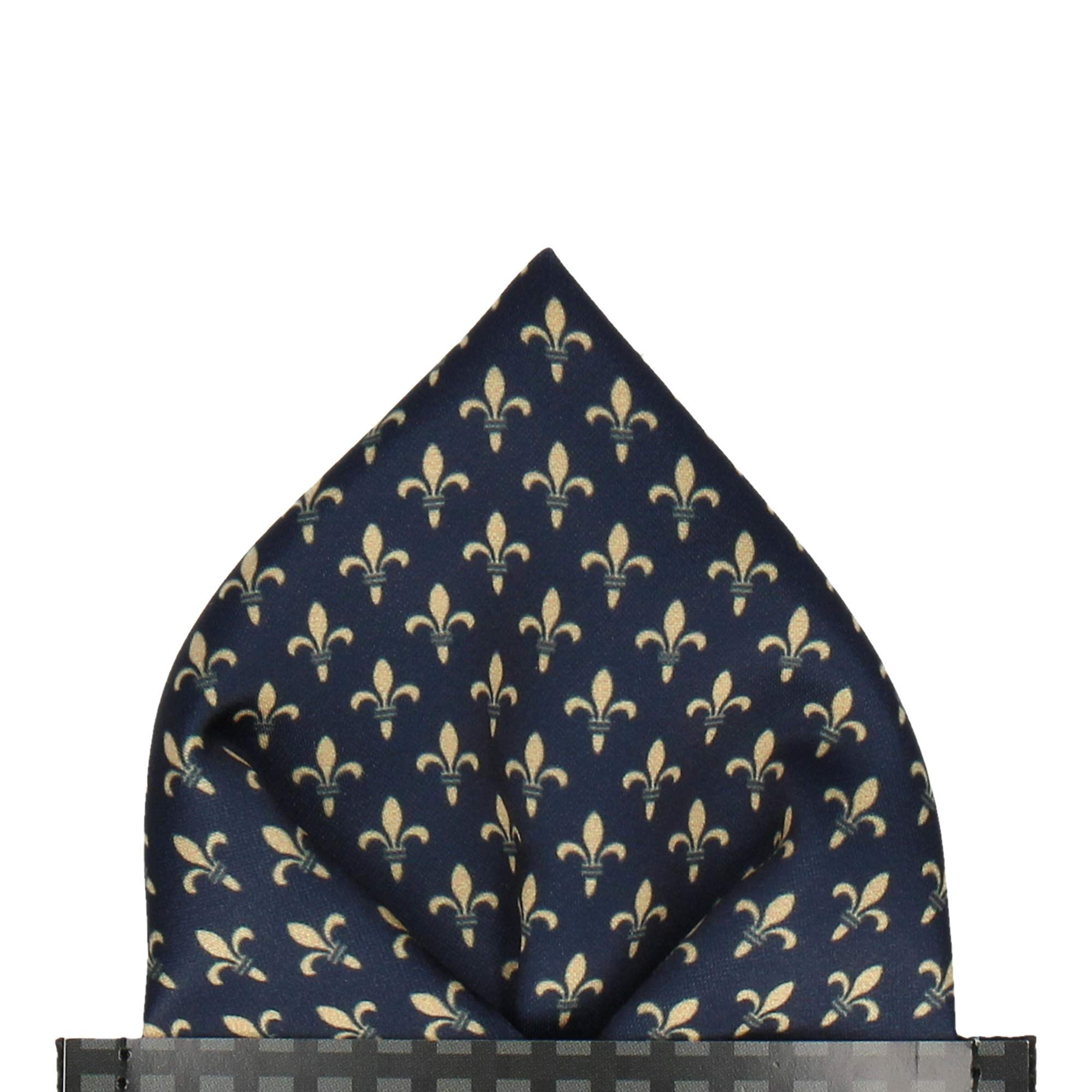 Mrs Bow Tie HRH Fleur de Lis Pocket Square, Handkerchief