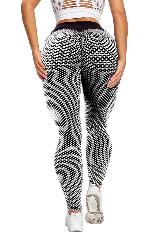 HOMETA Scrunch Butt Lifting Leggings for Women High Waist Yoga Pants Tummy Control Booty Leggings Ruched Workout Tights