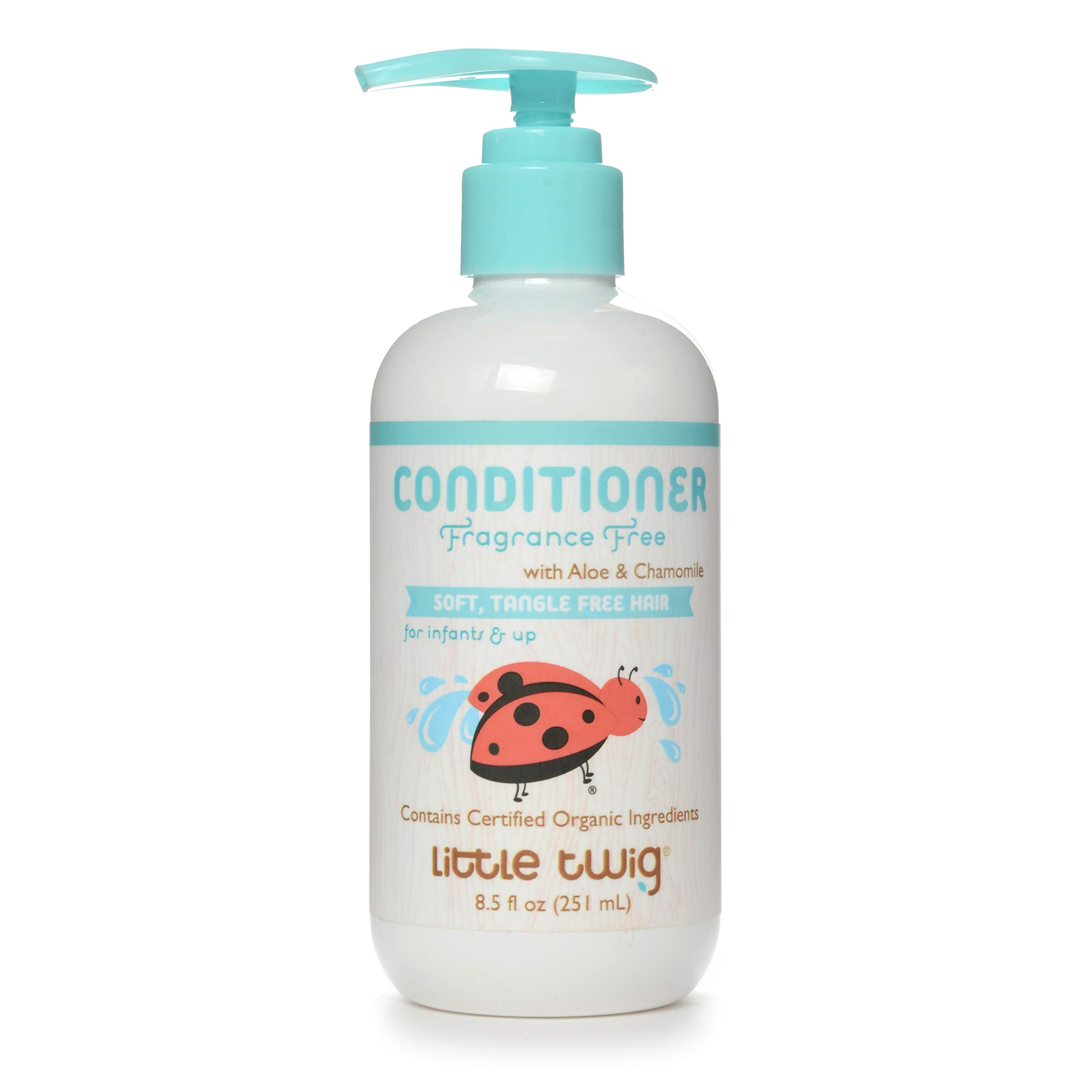Little Twig All Natural, Hypoallergenic, Extra Mild Organic Baby Conditioning Detangler for Sensitive Skin, Unscented, 8.5 Fluid Oz