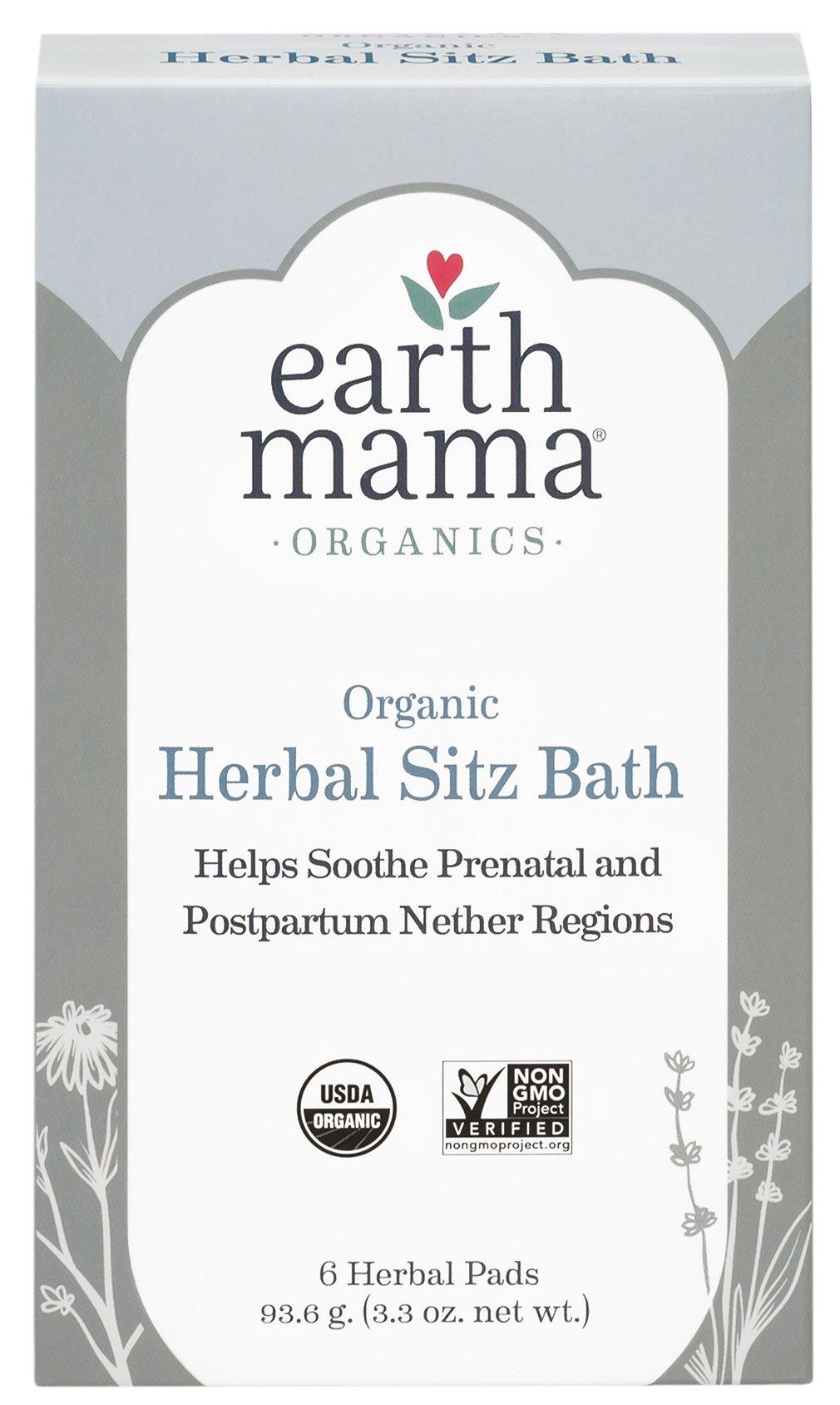Postpartum Bath Herbs, Organic Sitz Bath, 6 ct