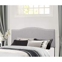 Hillsdale Furniture Hillsdale Kiley, King, Frame Not Included, Glacier Gray Fabric Headboard