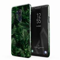 BURGA Phone Case Compatible with LG G7 - Tropical Exotic Summer Green Palm Tree Leaf Nature Plant Leaves Cute Case for Women Thin Design Durable Hard Plastic Protective Case