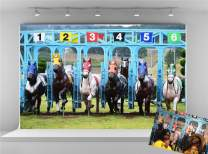 Kate 10x6.5ft Microfiber Kentucky Derby Party Backdrops for Photoshoot Riders Horse Race Photo Background Racecourse Track Photo Studio Props Backdrop