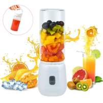 Portable Personal Blender, PENGWING USB Rechargeable Glass Cup Juicer Travel Outdoor Office, 2 450ML Cup Blenders for Shakes and Smoothies