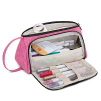 Luxja Bag for Cricut Pen Set and Basic Tools, Carrying Case for Cricut Accessories (Bag Only), Pink