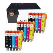 onino Compatible Ink Cartridge Replacement for HP 564xl Use with Photosmart 7510 7520 5520 6520 5510 6525 d5460 5525 5522 6510 7525 Officejet 4620 Deskjet 3522 3520 (15-pack) Black Cyan Magenta Yellow