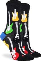 Good Luck Sock Women's Electric Guitars Socks - Black, Adult Shoe Size 5-9