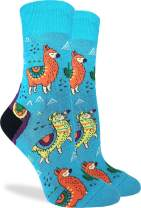 Good Luck Sock Women's Fun Llama Socks - Bue, Adult Shoe Size 5-9