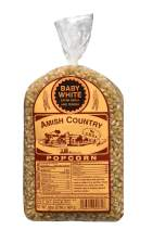 Amish Country Popcorn   2 LB Baby White Small & Tender Popcorn   Old Fashioned with Recipe Guide (Baby White, 2 Lb Bag)