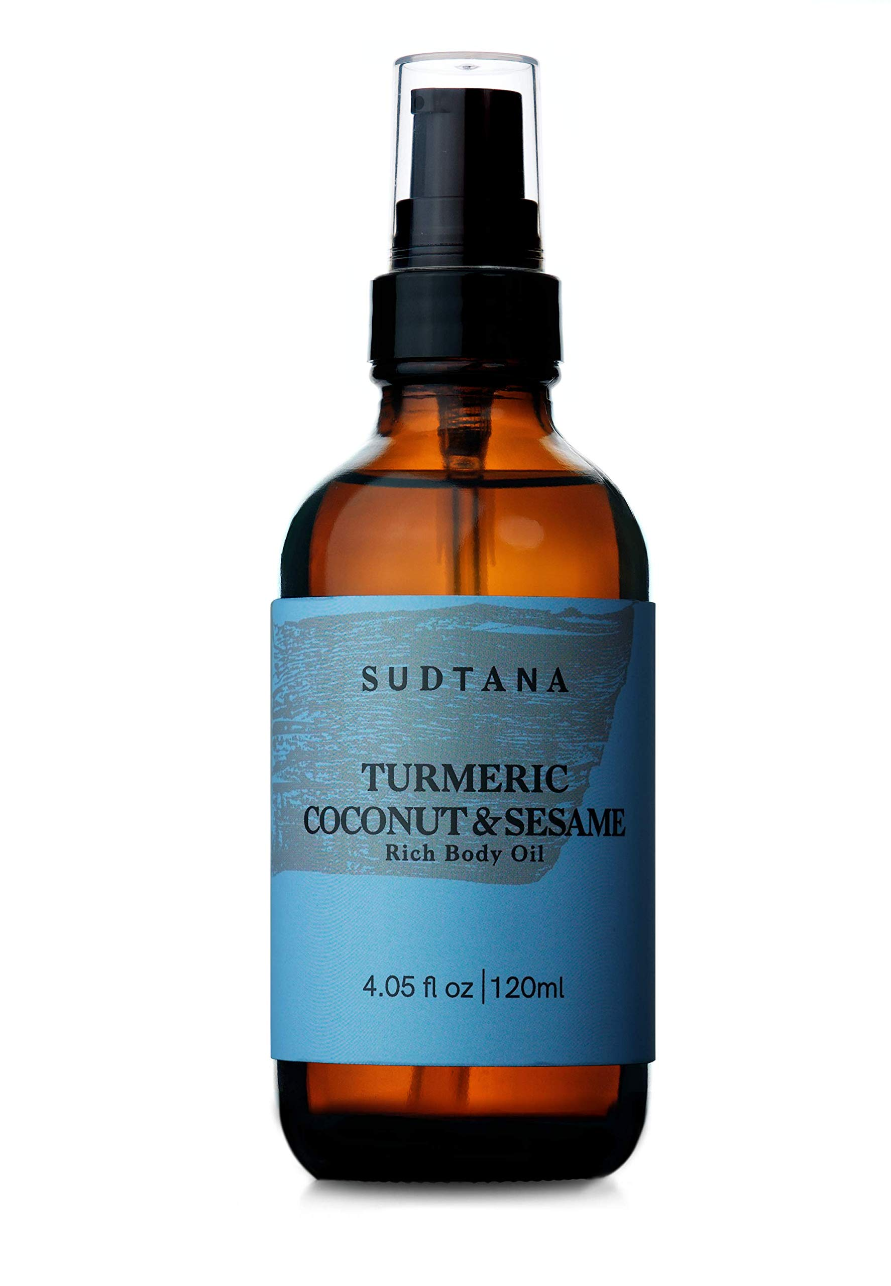 Organic Coconut & Turmeric Body Oil For Dry Skin | With Pure Premium Jojoba, Argan & Sesame Seed Oils | Natural Treatment For Moisturizing, Nourishing, Soft, Smooth and Glowing Skin