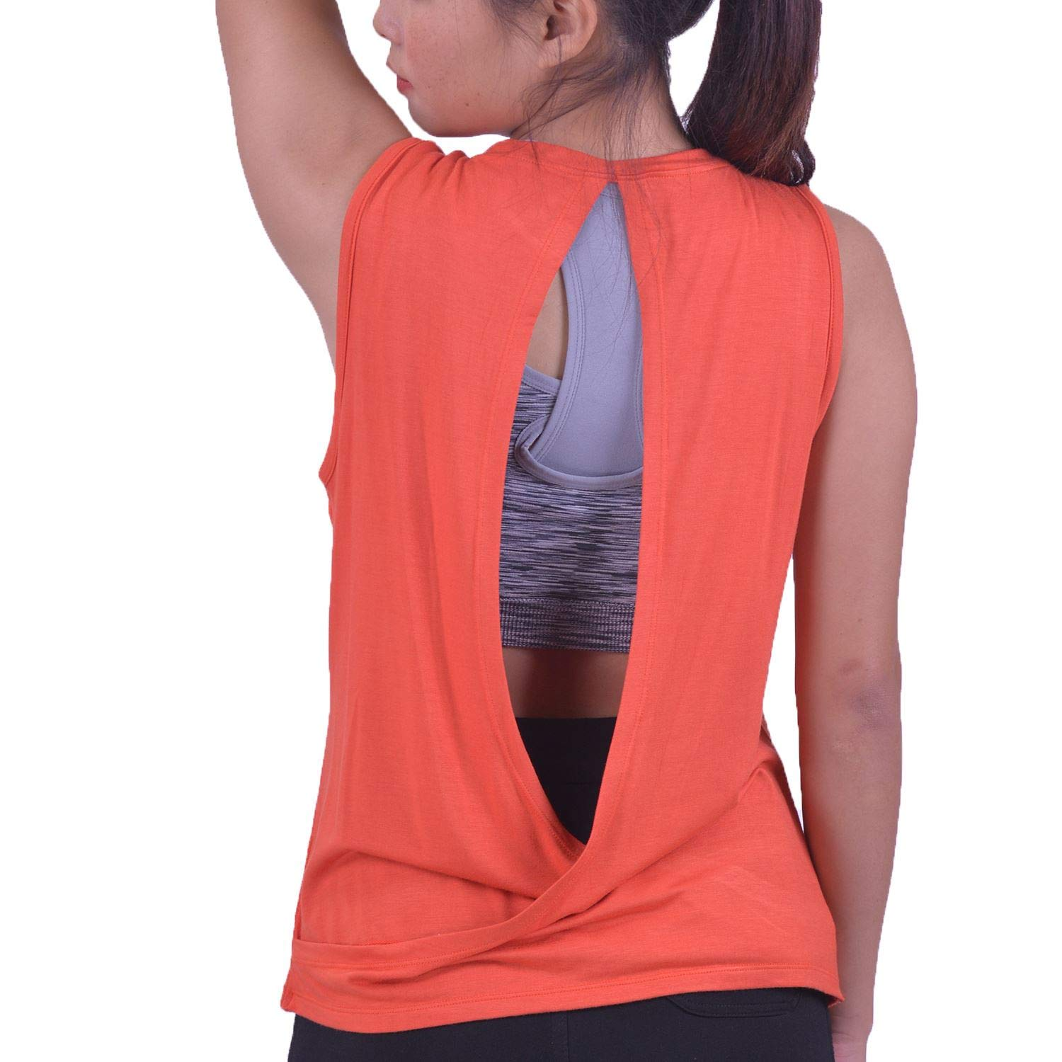 LOFBAZ Workout Tank Tops for Women Yoga Gym Shirts Athletic Clothes Plus S-4XL