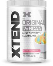 Scivation XTEND Original BCAA Powder Rainbow Sherbet   Sugar Free Post Workout Muscle Recovery Drink with Amino Acids   7g BCAAs for Men & Women   20 Servings