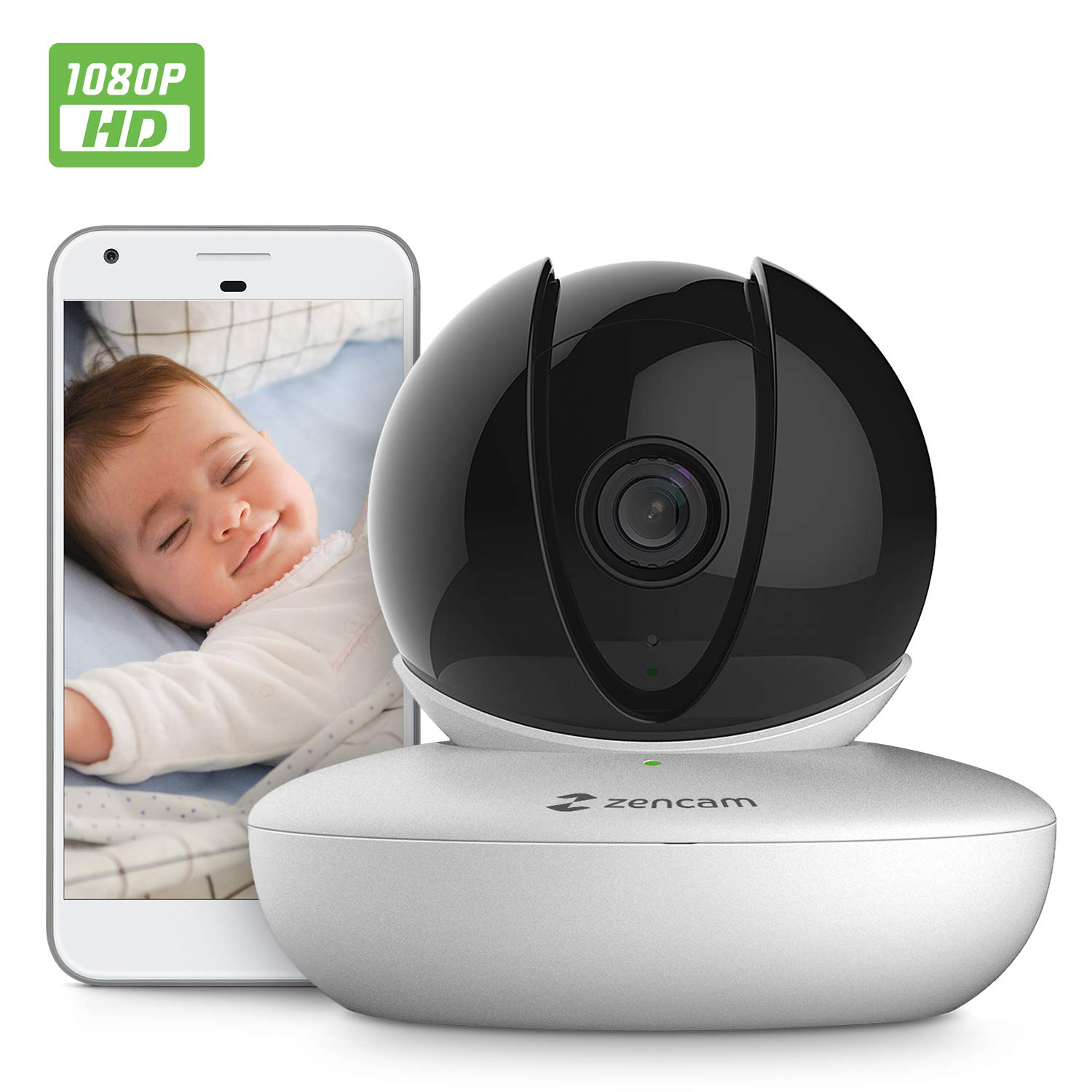 Amcrest Zencam 1080P WiFi Camera, Pet Dog Camera, Nanny Cam with Two-Way Audio, Baby Monitor with Cell Phone App, Pan/Tilt Wireless Wi-Fi IP Camera, Micro SD Card, RTSP, Cloud, Night Vision, M2W White