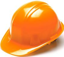 Pyramex Hi Vis Orange Cap Style 6 Point Ratchet Suspension Hard Hat