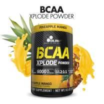 BCAA Powder - BCAAS Amino Acids - Amino Acid Supplements - BCAA Energy - Essential Amino Acids - BCAA Amino Acids - L-Glutamine Powder - Olimp Xplode - Pineapple Mango Powder - 9.5 oz - 30 Serving