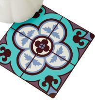 BARBARA SHAW GIFTS Trivet, Pot Trivet hot Trivet Blue Tile, Israeli Gifts Gifts Wood Composite, Made in Jerusalem. Hostess Gifts, 8X8 Trivet, Decorative Trivet, Unique Trivet Kitchen Trivet
