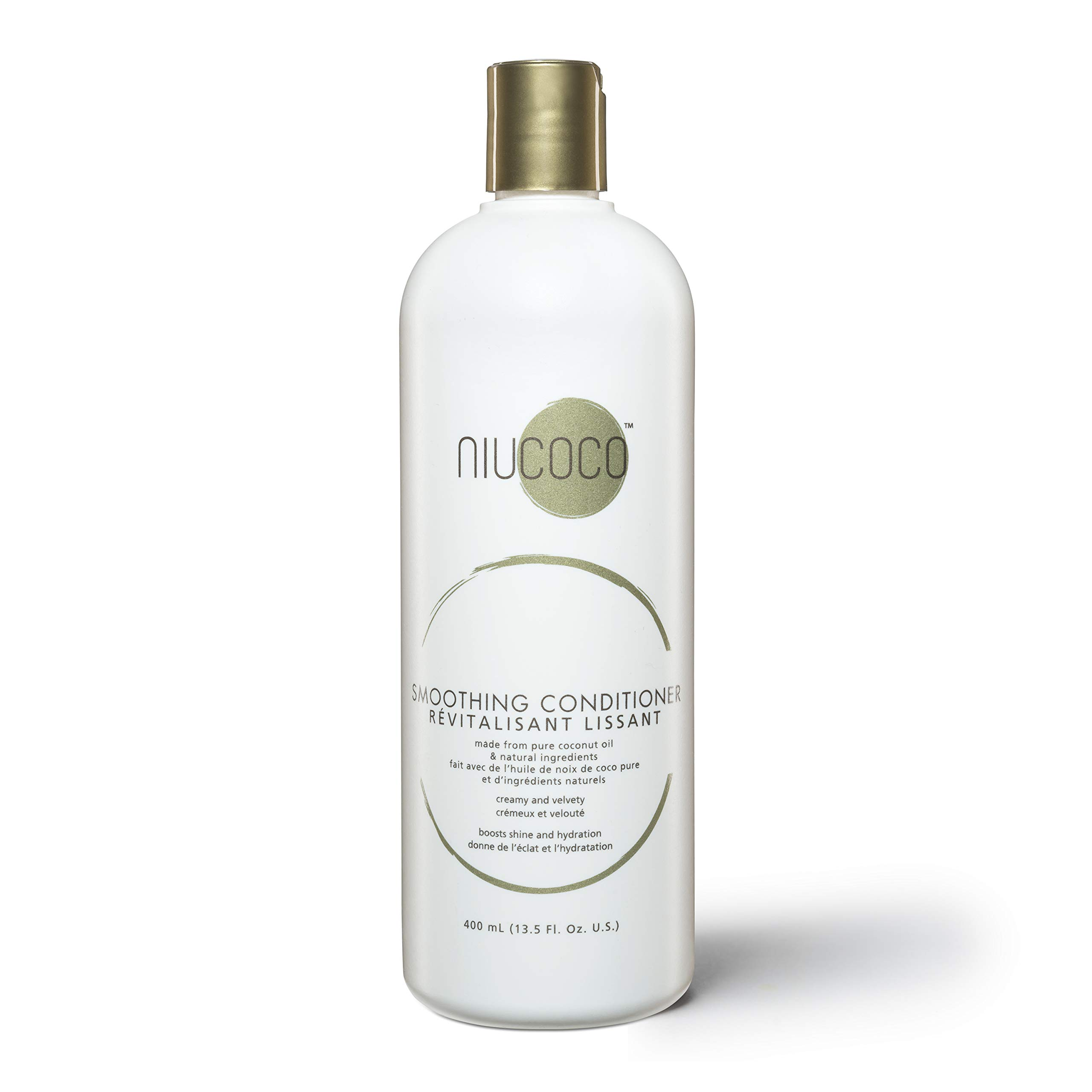 NIUCOCO | All-Natural Smoothing Coconut Oil Conditioner | 100% Non-Toxic | Fights Dry and Damaged Hair (400ml)